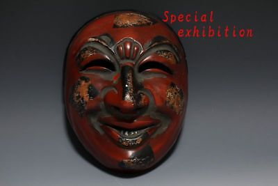 Japanese antique Bugaku mask Chikyu men Facet kagura Buddhist statue Temple Edo