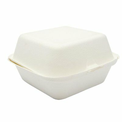 Pack of 500 Vegware Compostable Burger Box 150mm | Takeaway Food Containers