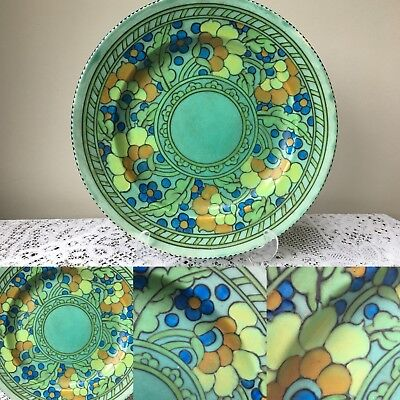 Rare Charlotte Rhead for Crown Ducal Art Deco charger/large plate fruit and fl