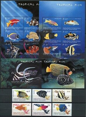 Grenada Grenadinen 2000 Fische Fishes Poissons Pesci 3091-3110 + Bl. 460-461 MNH