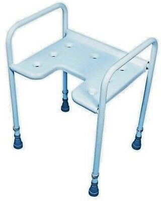 Shower Stool - Height Adjustable - Front Gap - Mobility Aid
