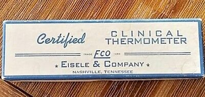 Vintage Eisele & Company ECO Clinical Baby Thermometer Original Box