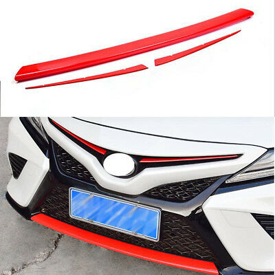Front intermediate Grille + front bumper Grill Cover Trim For 2018 Toyota Camry