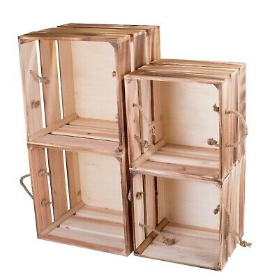 Cube Sturdy Natural Wooden Apple Crates Retail Display Shelf Box Gift Hampers