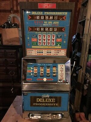 Vintage Bally Slot Machine, EM 4 Reel, Progressive Deluxe Continental, Working