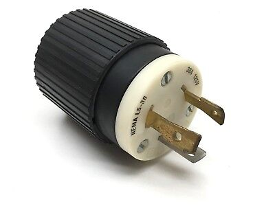 Bryant 70530NP Turn Twist-Lock Locking Plug 30A 125V 2P 3W NEMA L5-30P