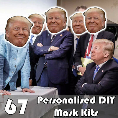 67 Pack Of Personalised Diy Face Mask Kits - Custom Party Masks To Make At Home
