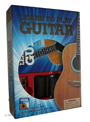 Learn to Play Guitar Set Book Plectrum Capo Guitar Strap Beginner Gift Box  New