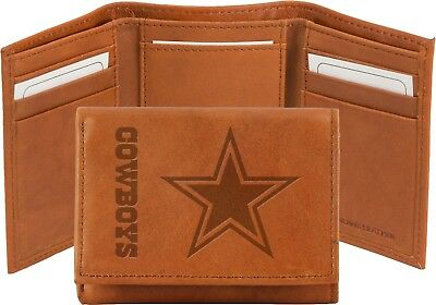 a4a3d58bf NFL Dallas Cowboys Rico Leather Wallet Brown Officially Licensed Free  Shipping