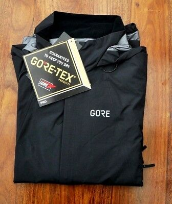 Gore Gore-Tex 100170 Bike Wear C7 Pro Hooded Black Cycling Sports Jacket Eu - Xl