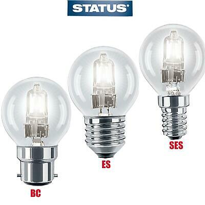 5/10/20 X Halogen Golf Ball Round Bc/es/ses Light Bulbs Dimmable
