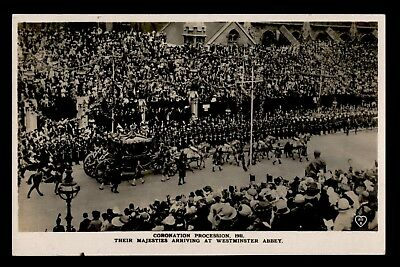 Dr Who 1911 Gb Their Majesties Arriving At Westminster Abbey Postcard C63833