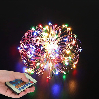 SZZCCC String Lights,Wire Light Dimmable With Remote Control, Colorful and Decor