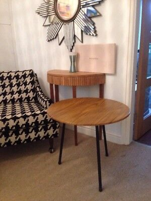 Mid Century Circular Side Table