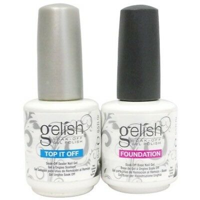 Harmony Gelish Soak Off Gel - TOP IT OFF, FOUNDATION & MATTE  0.5oz/15ml UK