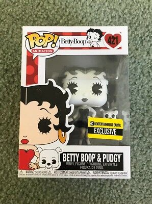 Funko POP! Entertainment Earth Exclusive Betty Boop and Pudgy Black + White