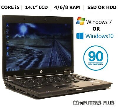 "HP Elitebook 8440w, 14.1"" Laptop, Core i5, 4/6/8Gb, HDD or SSD, Win 7/10"
