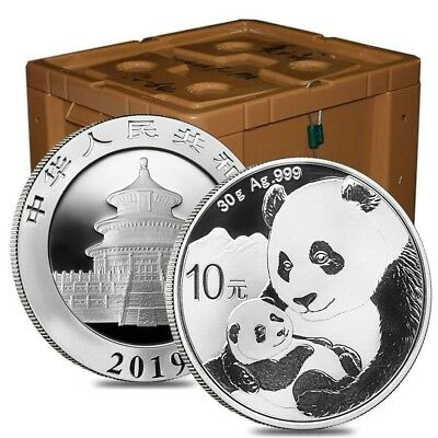 Monster Box of 450 - 2019 30 gram Chinese Silver Panda 10 Yuan .999 Fine BU (30