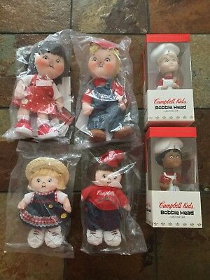 Lot Of New Retired Original Campbell Kids Dolls