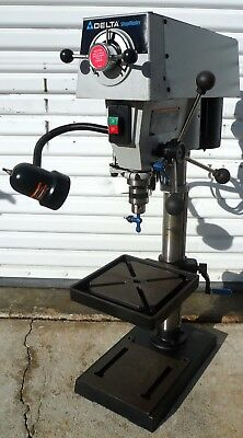 """Delta ShopMaster 12"""" Variable Speed Drill Press Bench Top 1/2"""" Chuck Excellent"""