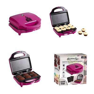 LUXUS 2in1 MUFFIN MAKER CUPCAKE MAKER BROWNIE BACKGERÄT ANTIHAFT 56846804