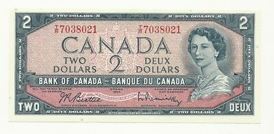 1954 Canada Two Dollar Bank Note Unc