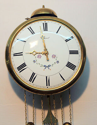 Old Brass Wall Clock Chime Clock Comtoise *WARMINK  *