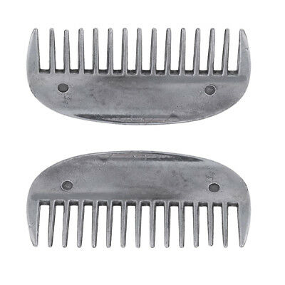 2pcs Horse Metal Curry Comb Horse Grooming Care Farming Performance Supplies