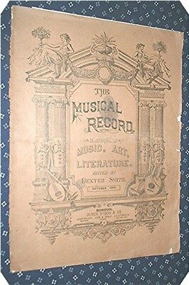 THE MUSICAL RECORD 1888 issue Articles & music Wyman