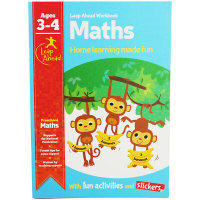 Leap Ahead Maths Workbook - Ages 3-4 (Paperback), Children's Books, Brand New