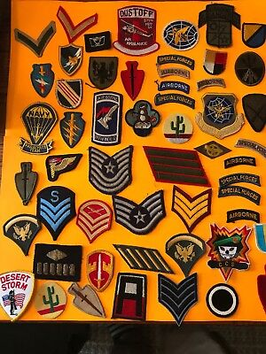 Estate Find Lot Of Over 50 Vintage To Now Military Patches All Sorts