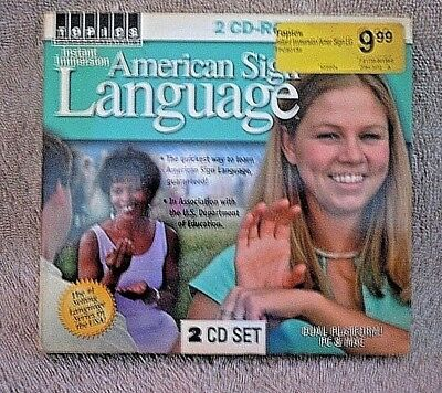 Instant Immersion American Sign Language CD-Rom Software ASL Topics--LN!