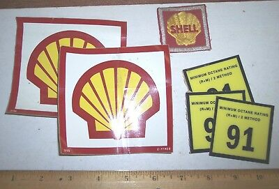 1977 Shell Oil Company Cloth Pocket Patch & Logo Stickers