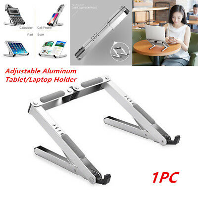 "Portable Laptop/Tablet Stand Adjustable Ventilated Aluminum Below 15.6"" Non-Slip"