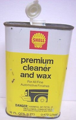 Shell Oil Company Premium Cleaner and Wax Metal Can
