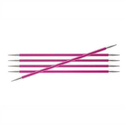Knitter's Pride Zing Size US 8 (5mm) Metal Double Point Needles - 6 inch, 8 inch