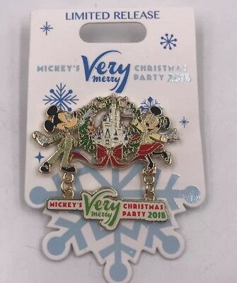 NEW Disney Mickey's Very Merry Christmas Party Event 2018 Logo Pin