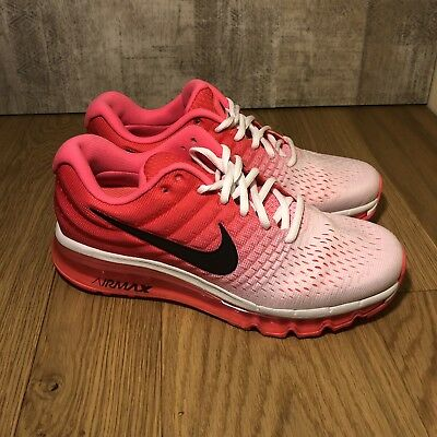 57a96782ef Nike Air Max 2017 White Hot Punch Womens Running Shoes Size 9 849560-103 New