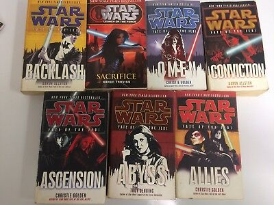 Lot of 7 Star Wars Paperback Books, Fate of the Jedi and Legacy of the Force
