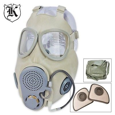 Military Surplus Czech M10M Gas Mask With Straw And filter