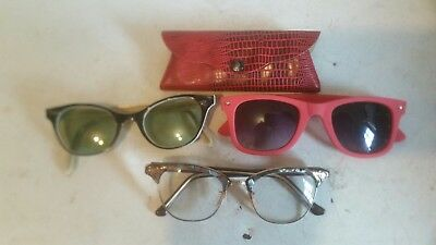 vintage Liberty 1/10 12 kg. F 4 to 5 and 1/2 cat's eye eyeglasses & 2 sunglasses
