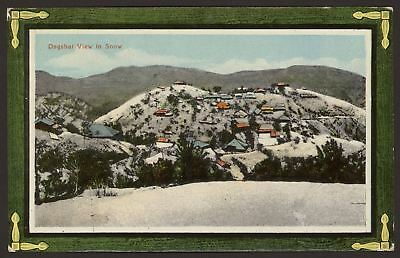 India. Himachal Pradesh. Dagshai View in Snow - Vintage Printed Postcard