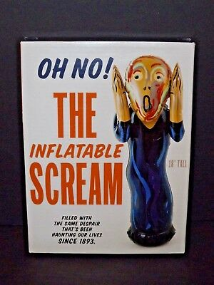 "The Inflatable Scream Desktop 18"" Tall Wobbles New The Scream (x)"