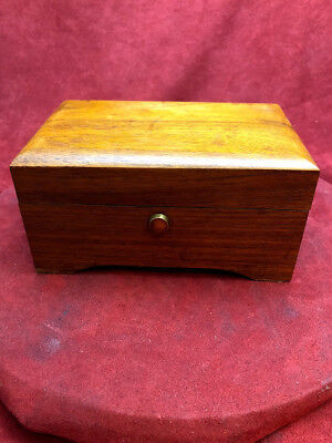 Vintage Thorens Wooden Music Box 4 Tune 50 Note Fully Serviced