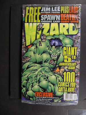 WIZARD MAGAZINE #60 8/1996 POLY-SEALED Unread copy with promo cards intact