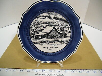 """2016 Fitz and Floyd Bristol Holiday Merry Christmas 8 3/4"""" Collector's Plate EUC"""