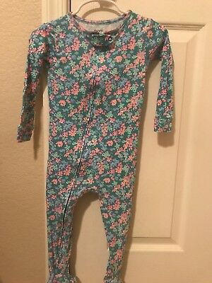 Carters Child of Mine Girls Footed Floral Pajamas 24 Months