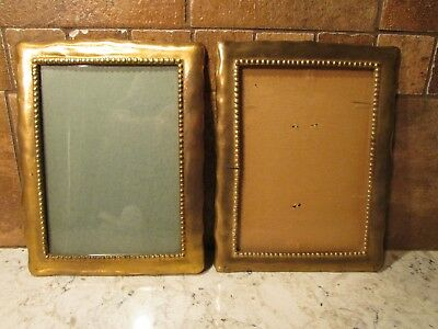 "Lot Of 2 Vintage Brass Picture Frames 5""x7"""
