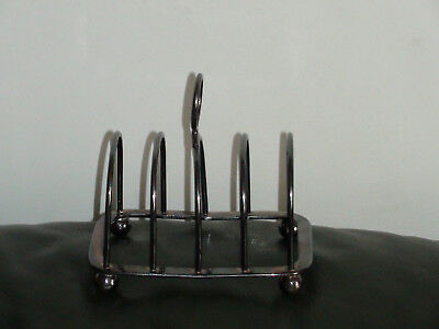 Vintage Jbs 5379  Silver? Silver Plate? Toast Rack 4 Slice Made In England