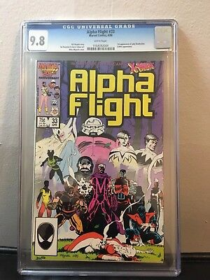 Alpha Flight #33 CGC 9.8 (Apr 1986, Marvel) First Appearance Lady Deathstrike